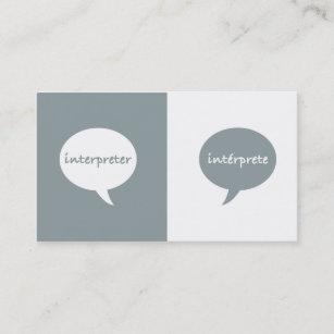 Interpreter business cards zazzle interpreter english spanish business card reheart Images