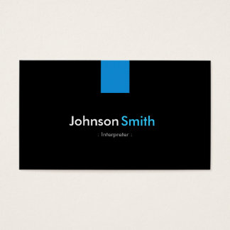 Interpreter Modern Aqua Blue Business Card