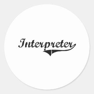 Interpreter Professional Job Classic Round Sticker