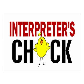 INTERPRETER'S CHICK POSTCARD