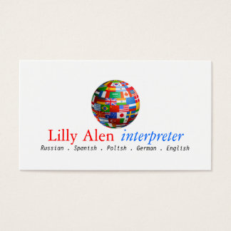 Interpreter Translator Business Card