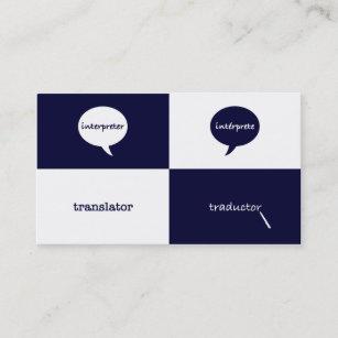 Interpreter business cards zazzle interpretertranslator english spanish masculine business card reheart Images
