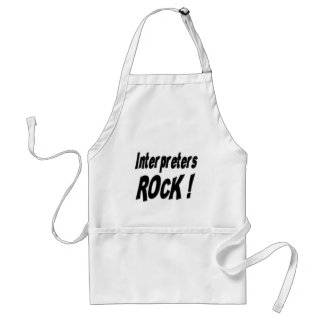 Interpreters Rock! Apron