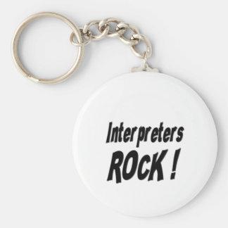 Interpreters Rock! Keychain