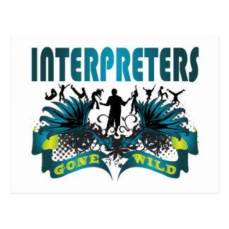 Intérpretes idos salvajes postal
