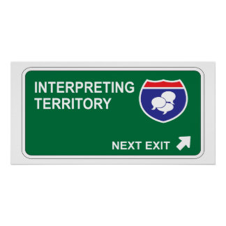 Interpreting Next Exit Poster
