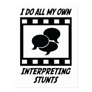 Interpreting Stunts Postcard