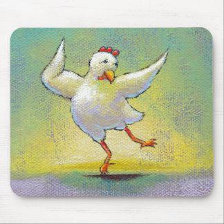 Interpretive dance chicken fun unique original art mouse pad