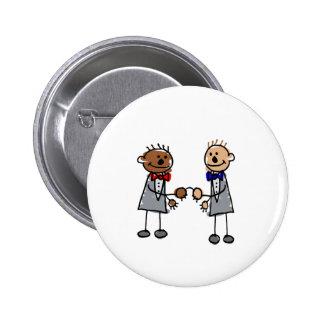 Interracial Gay Couple Button