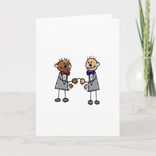 Interracial cards zazzle interracial gay couple card m4hsunfo