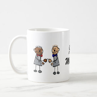 Interracial Gay Couple Coffee Mug