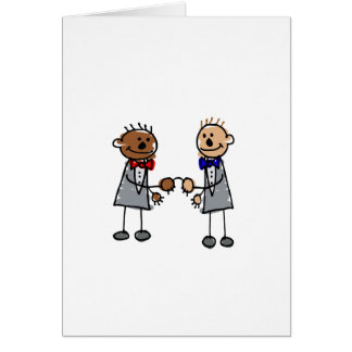 Interracial Gay Couple Greeting Card