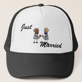Interracial Gay Couple Trucker Hat