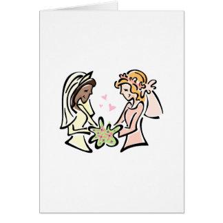 Interracial Lesbian Wedding Card