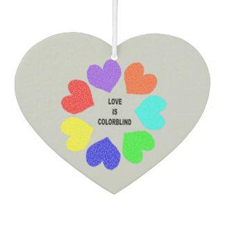 Interracial Love Raibbow Hearts Air Freshener