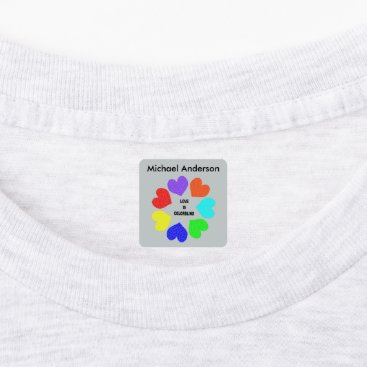 Interracial Love |Rainbow Hearts Clothing Labels