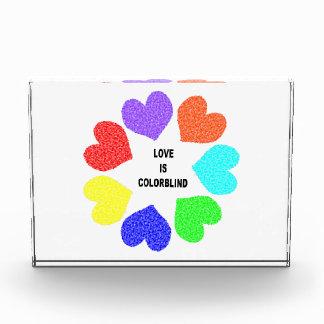 Interracial Love Rainbow Hearts Decoration Acrylic Award