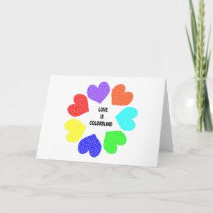 Interracial cards zazzle interracial love rainbow hearts greeting card m4hsunfo