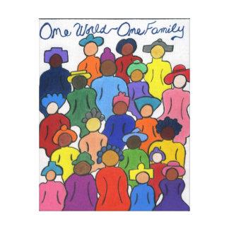 Interracial, Multicultural Stretched Canvas Prints