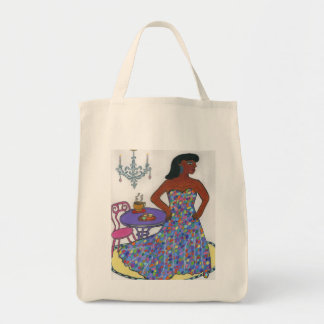 Interracial, Multicultural Grocery Tote Bag