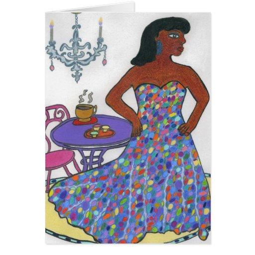 Interracial, multicultural tarjeta de felicitación