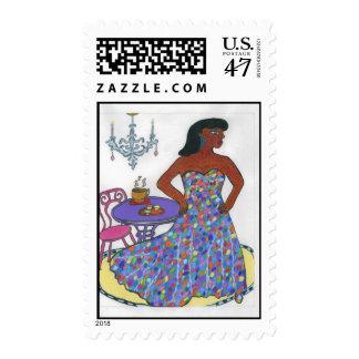 Interracial, multicultural timbre postal