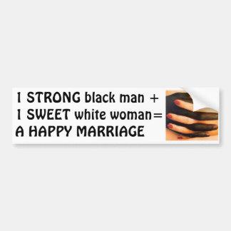 Interracial Relationship Car Bumper Sticker