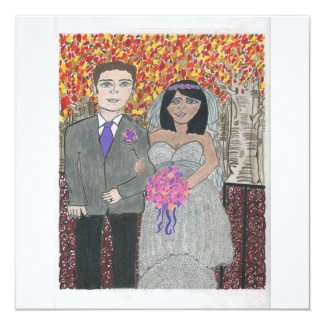 Interracial Wedding Invitation 1