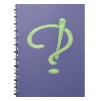 Interrobang! Green Glass Notebook
