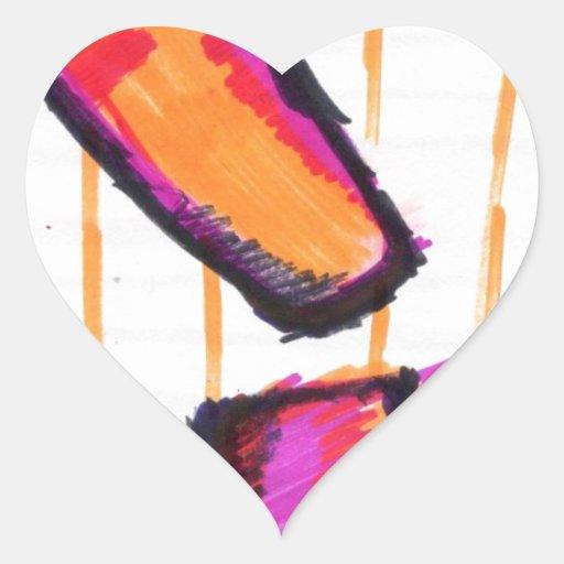 Interrobang Pegatina De Corazón Personalizadas