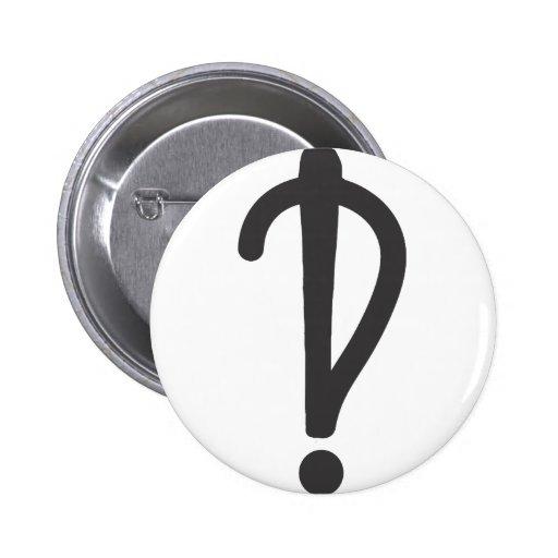 Interrobang Pin
