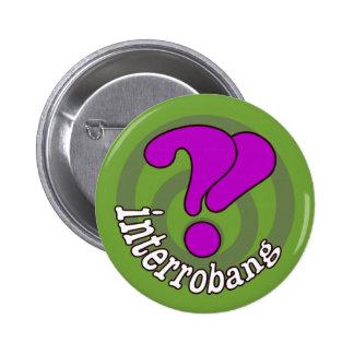Interrobang Pop Art Button - Green