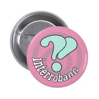 Interrobang Pop Art Button -  Pink