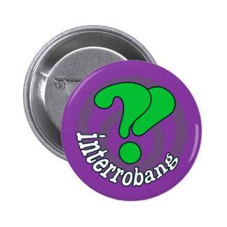 Interrobang Pop Art Button -  Purple