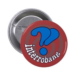 Interrobang Pop Art Button -  Red