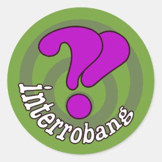 Interrobang Pop Art - Green Sticker
