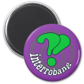 Interrobang Pop Art Magnet -  Purple