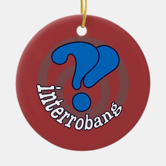 Interrobang Pop Art Red Ceramic Ornament
