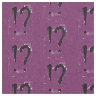 """Interrobangy"" - en púrpura Telas"