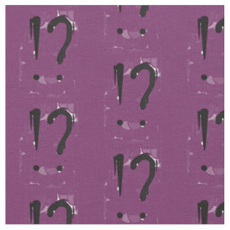 """Interrobangy"" - in purple. Fabric"