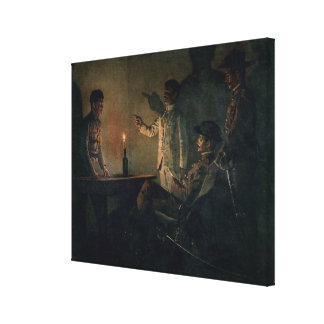 Interrogation of a deserter canvas print