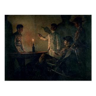 Interrogation of a deserter postcard
