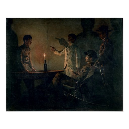 Interrogation of a deserter poster