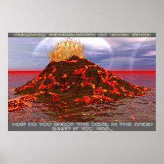 Interrupción volcánica poster