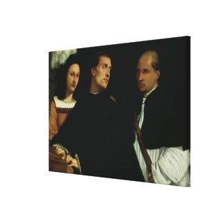 Interrupted Concert, c.1512 Canvas Print