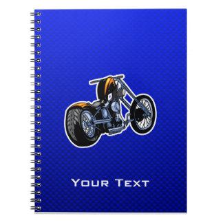 Interruptor; Azul Libros De Apuntes Con Espiral
