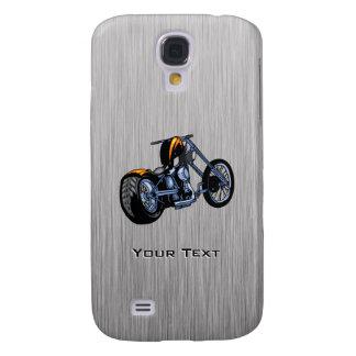Interruptor cepillado de la Metal-mirada Funda Para Galaxy S4