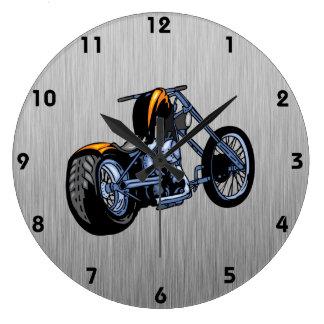 Interruptor cepillado de la Metal-mirada Reloj De Pared
