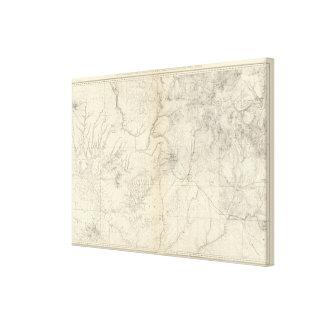 Interruptor Colorado y piezas de New México Lona Estirada Galerias