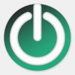 Interruptor con./desc. espera etiqueta redonda